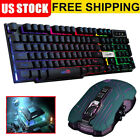 2mm Gaming Headset LED Stereo Headphones + LED Gaming Keyboard & Mouse Set
