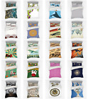 Ambesonne Vintage Scenes Bedding Set Duvet Cover Sham Fitted Sheet in 3 Sizes image