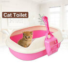 F014 Plastic Cat Litter Box Home Cleaning Lightweight Cat Toilet