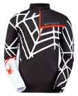 Spyder Vital Zip T-Neck Herren Skirolli Funktionsshirt black white