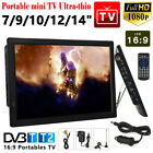 7/910/12/14inch Portable 1080P HD TV Freeview HDMI Digital Television Player UK