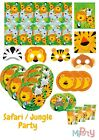 Safari Party Jungle Animal Zoo Tableware Birthday Decorations Napkin Plate Cup