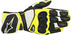 ALPINESTARS SP-1 V2 Leather Motorcycle Gloves BLACK WHITE YELLOW