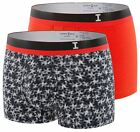 mens underwear shorts Impetus H48 Vigorous Boxer Brief 2 Pack maxi black orange