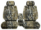 Car seat covers camo woods fits Toyota Tacoma 2001-2004 Front bench 60-40+2HR
