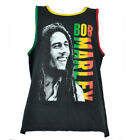 Bob Marley Tank Top Rasta Colors Tank Top Mens Black Tee Music Reggae