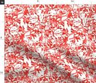 Nautical Watercolor Home Decor Red Beach Joan Fabric Printed by Spoonflower BTY