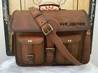 Mens-Quality-Hide-Laptop-Briefcase-Leather-Vintage-Brown-Messenger-Shoulder-Bag