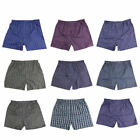 Mens Boxer Plaid Shorts Panties Underwear Cotton Panties Briefs Waistband 3pcs