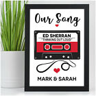 PERSONALISED Our Song First Dance Anniversary Gifts for Him Her Couples Husband