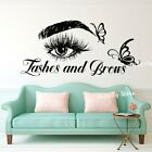 Eyelash Decals Wall Decal Butterfly Window Sticker Beauty Salon Lashes And Brows