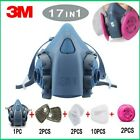17 in 1 3M 7502 Gas mask half Face Respirator Spray Painting Protection