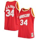 Men's Houston Rockets Hakeem Olajuwon Mitchell & Ness Red 1993-94 HWC NBA Jersey on eBay