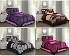 Empire Home Safari Damask 4-Piece Comforter Set Bed In A Bag - New Arrival Sale