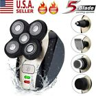 5 IN 1 Rechargeable 4D Rotary Electric Shaver Bald Head Shaver Beard Trimmer US