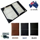 Leather Golf Scorecard Holder Score Counter Keeper Card Holder
