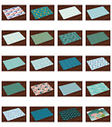 Ambesonne Fabric Place Mats 4 Piece Set Placemats Dining Room and Kitchen Table