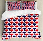 Abstract Vintage Duvet Cover Set Twin Queen King Sizes with Pillow Shams