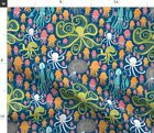 Silly Squids Summer Squid Nursery Octopus Fabric Printed by Spoonflower BTY