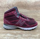 New Balance 990V4 Men's Made In USA Mid Burgundy Hiking Boots Trail Running