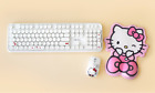 [Hello Kitty]Sanrio Hello Kitty Retro Wireless Keyboard+Mouse+ Gel Mouse Pad Set