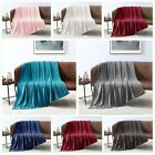 Fleece Velvet Plush Throw Blanket Soft Elegant 4 Color King Queen Full Twin Size