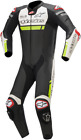 Alpinestars Missile Ignition One-Piece Leather Suits BLACK WHITE YELLOW