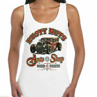 Ladies Hot Rat Rod Vest Rusty Nuts Vintage Garage Vintage Retro Rockabilly 55