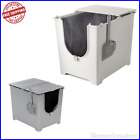 MODKAT Flip Cat Litter Box With Scoop - Grey Or White Covered Easy Cleaning