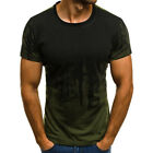 Men Casual Slim Fit Short Sleeve T Shirt Summer Sport Gym Muscle Tee Blosue Tops