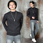 NewStylish Mens Basic round knit sweater
