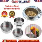 Pet Bird Stainless Steel Cup Bowl Parrot Food Water Feeder Plate For Bird Cage