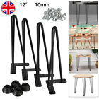 4x Hairpin Table Legs 10mm Iron 8* 12* 16* 28* Furniture Table Desk Bench+Screws