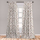 Ambesonne Home Privacy Protected Microfiber Window Curtains with Rod Pocket