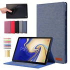 New Canvas Leather Stand Soft TPU Case Cover For Samsung Tab S5e 10.5 T720/T725