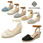Kyпить DREAM PAIRS Women's Summer Sandals Ankle Strap Casual Espadrilles Wedge Sandals на еВаy.соm