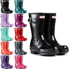 Womens Hunter Wellington Boots Original Short Gloss Snow Wellies Ladies US 5-10