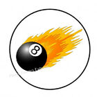 """30 BILLIARDS POOL 8 BALL ENVELOPE SEALS LABELS STICKERS PARTY FAVORS 1.5"""" ROUND $1.96 USD on eBay"""