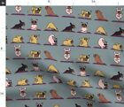 Dog Yoga French Bulldog Lover'S Novelty Fabric Printed by Spoonflower BTY