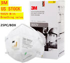 3M 9002V Face Cover Mask with Filter Breathing valve RESPIRATOR - US STOCK