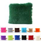 For Office Home Room Bed Car Decor Fluffy Plush Square Pillow Case Cushion Cover image