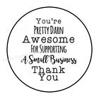 Kyпить THANK YOU FOR SUPPORTING MY SMALL BUSINESS ENVELOPE SEALS LABELS STICKERS 1.5