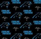 Carolina Panthers Fabric by the Yard or by the Half Yard, Licensed NFL Cotton Fa $5.25 USD on eBay