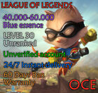League Of Legends Account Lol Oce 40k-60k Be Level 30+ Unranked Unverified Smurf