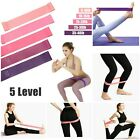 Workout Resistance Bands 5 Level for  Loop Set Fitness Yoga Booty  Leg Exercise image