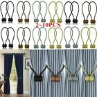 2-10pc Curtain Tie Backs Magnetic Ball Buckle Holder Tieback Clips Home Window