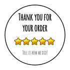 """30 THANK YOU FOR YOUR ORDER ENVELOPE SEALS LABELS STICKERS 1.5"""" ROUND"""