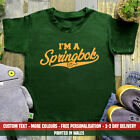 Kids I'm A Springbok T-shirt South Africa Rugby African SA Birthday Gift Top