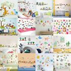 Cartoon Animals Kids Children Wall Stickers Bedroom Art Decal For Play Study Hv