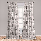 Ambesonne Parallel Branch Window Curtains Decorative Panels Set of 2 with Rod